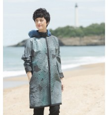 7bbd94040 When The Rain Is Painting The Coat : blue/turquoise