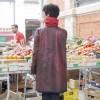 """Manteau de Pluie """"Quand La Pluie Peint Le Manteau"""" Rouge"""